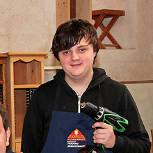 A trainee of The Dan Eley Foundation and partner charity Skillway
