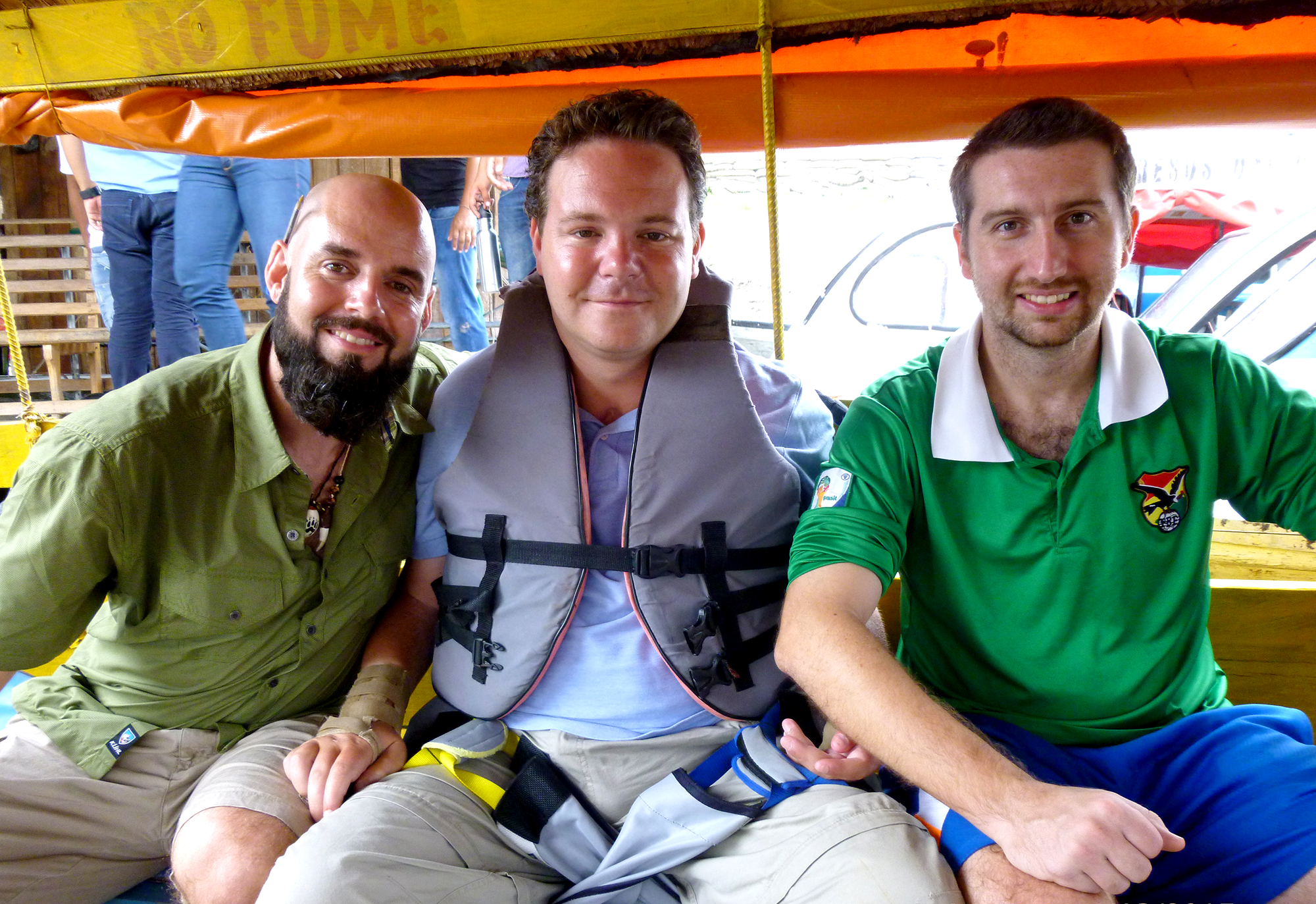 Terrance, Kevin and Dan Eley on a river boat