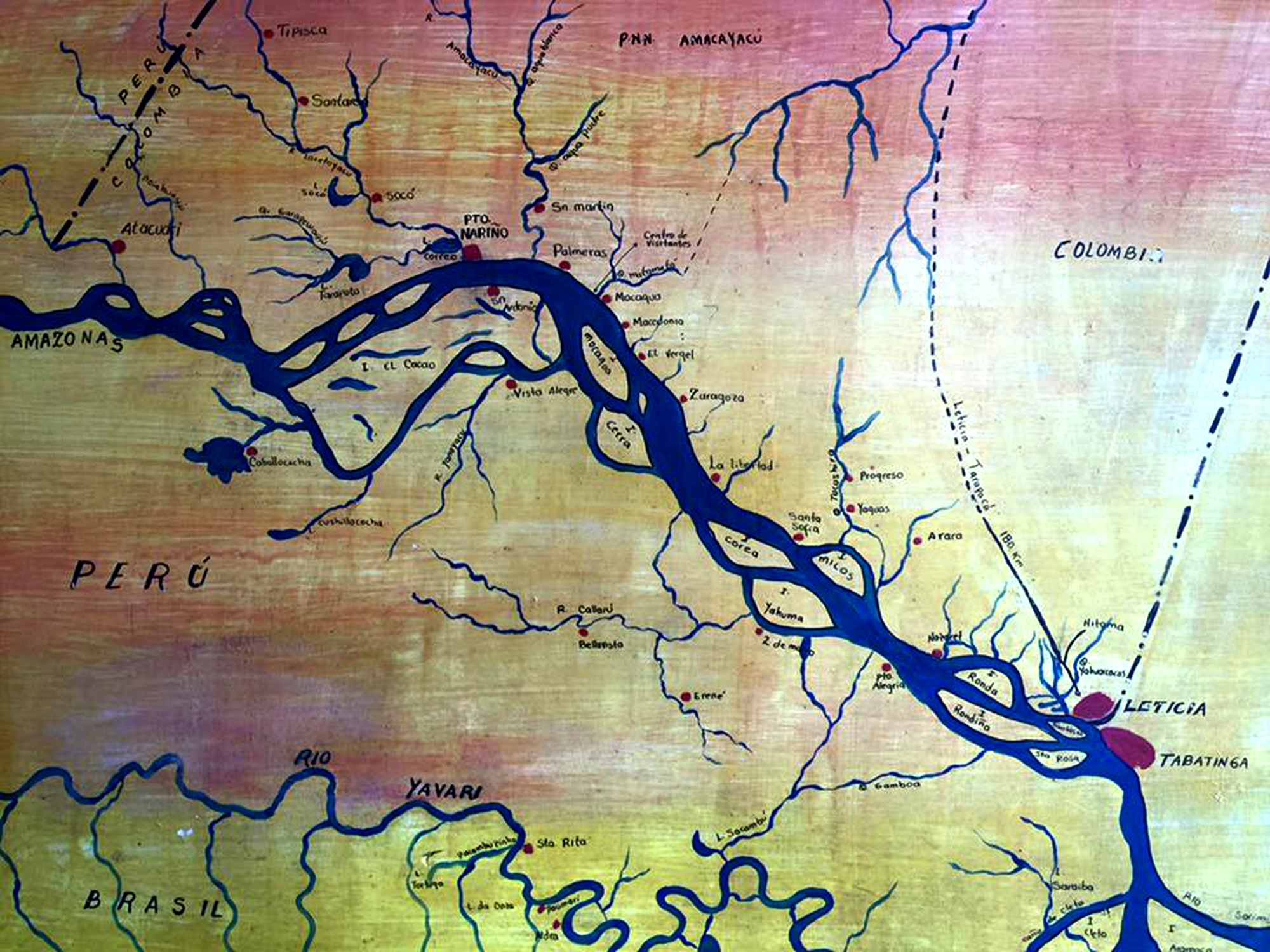 Sketched Map of part of the Amazon