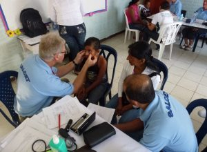 The medical team from British Charity SALCET, carrying out medical clinics in Columbia, in conjunction with The Dan Eley Foundation