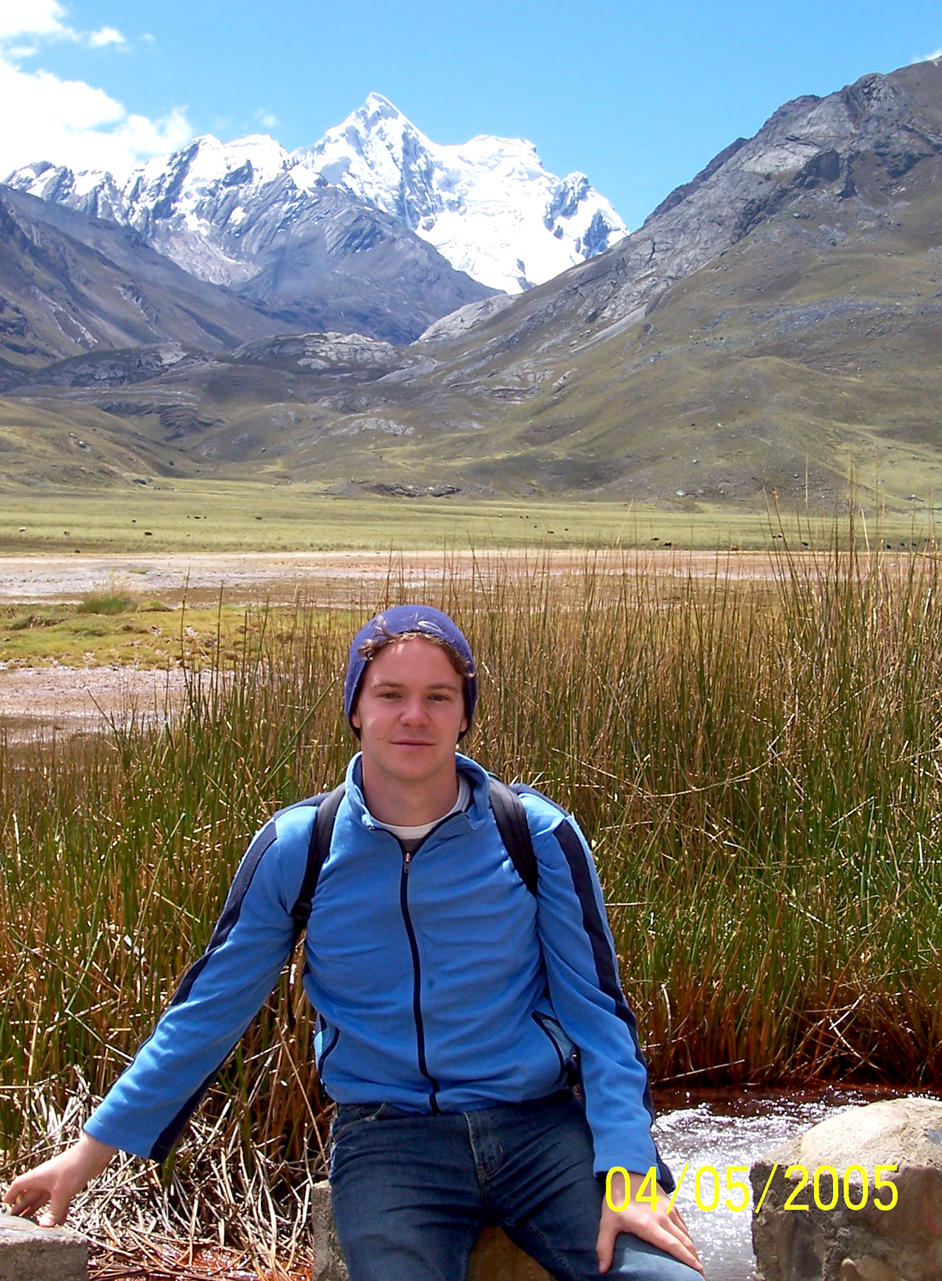 Dan Eley Travelling in Peruvian Andes
